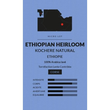 Café en Grains Micro-lot Ethiopian Heirloom naturel - Big Bang Coffee -250g