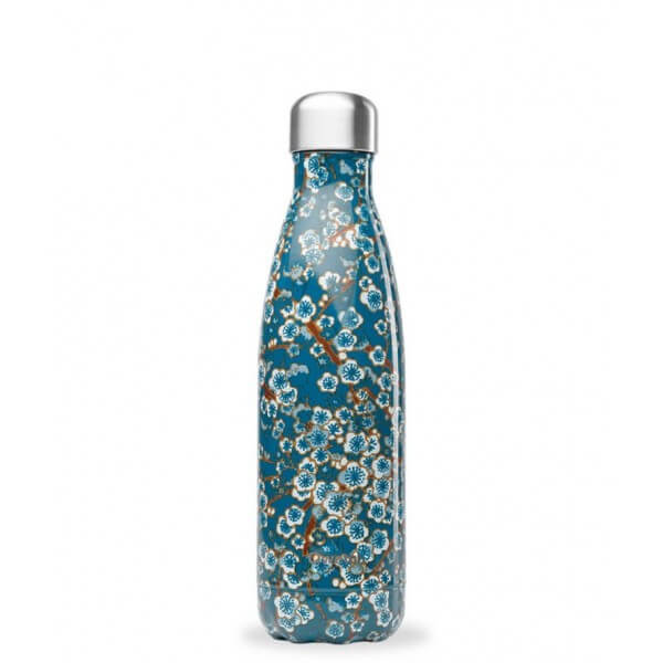 Bouteille Isotherme Inox Flowers Bleu 500 ml