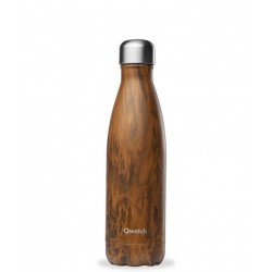 Bouteille Isotherme Inox Wood 500 ml