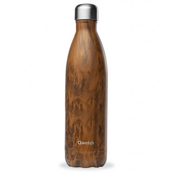 Bouteille Isotherme Inox Wood 750 ml